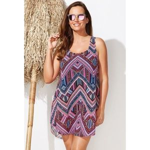 NWT Quincy Mesa High-Low Swim Coverup
